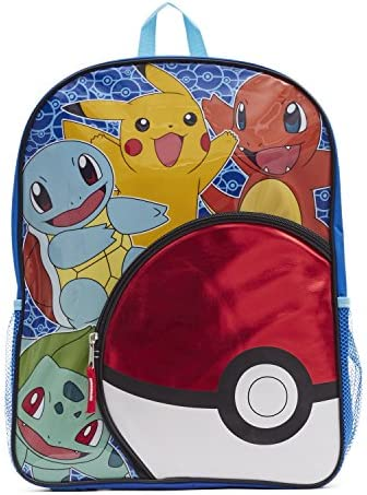 "Pokemon 16/"" Large School Backpack Poke ball Insulated Lunch Box Bag Kit"