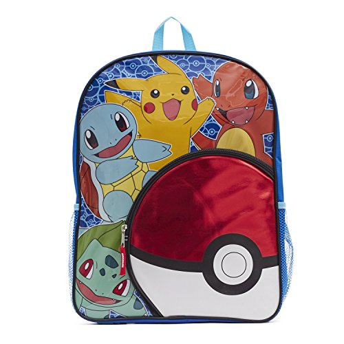 Pokemon Boys' Pokeball Pocket 16 Inch Backpack Photo