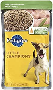 PEDIGREE LITTLE CHAMPIONS Meaty Ground Dinner With Turkey Wet Dog Food 5.3 Ounces (Pack of 24)