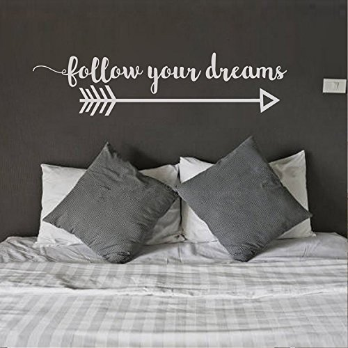 Letters Wall Decor Stickers Arrow Wall Decal Follow Your Dreams Wall Decal Quote Boho Bedroom Decor Bohemian Bedroom Decor Arrow Decor Tribal Wall Decal -