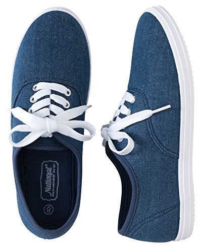 National Classic Canvas Sneakers, Stonewash, 11W