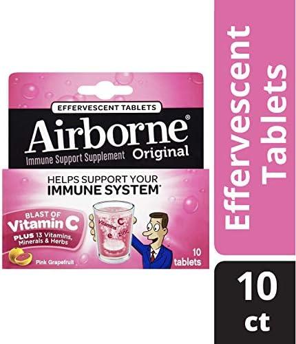 Airborne Grapefruit Effervescent Tablets count