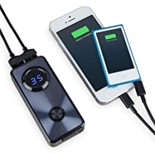 BoxWave Rejuva Duo Magellan Cyclo 505 Power Bank - Universal, Portable Dual USB 5,200 mAh Rechargeable Li-ion Battery - Includes Micro USB Charging Cable! - Magellan Cyclo 505 Charger with Backlit Digital LED Power Display and 2 Built In High Output USB Ports (Jet Black)