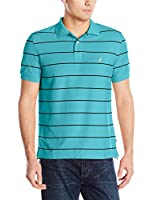 Nautica Men's Pique New Stripe Polo