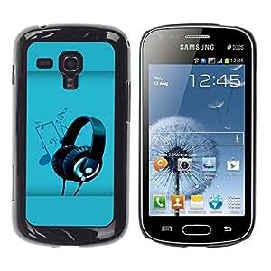 Be Good Phone Accessory // Dura Cáscara cubierta Protectora Caso Carcasa Funda de Protección para Samsung Galaxy S Duos S7562 // Sound Colors