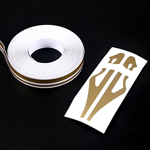 WINOMO 32 FT Car Body Side Stripes Auto Pinstripe Tape Decal Waistline Sticke...