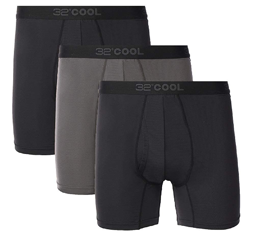 32 DEGREES Mens 3 Pack Active Mesh Boxer Brief