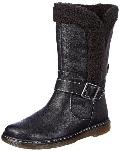 Dr. Martens Women's Brielle Rigger Calf Boot,Black Broadway,UK 8 M