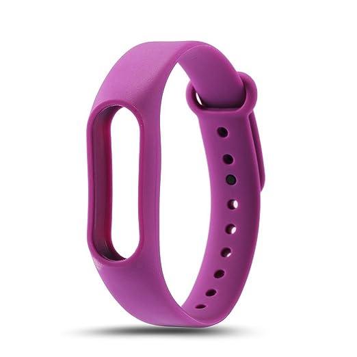 Recambio para Pulsera Actividad XIAOMI MI Band 2 SMARTWATCH MIBAND Correa Reloj (Violeta): Amazon.es: Relojes
