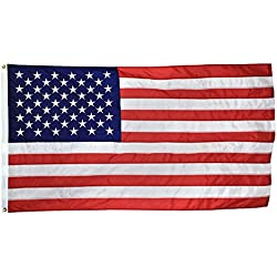 SOARS U.S. Nylon US Flag 3x5 Ft Embroidered Stars Sewn Stripes Brass Grommets 210D Quality Oxford Nylon