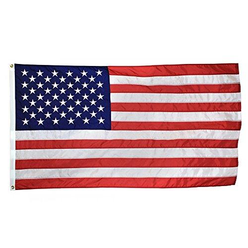 SOARS U.S. Nylon US Flag 3x5 Ft Embroidered Stars Sewn Stripes Brass Grommets 210D Quality Oxford Nylon