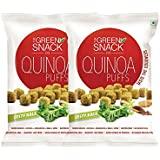 The Green Snack Co. Gluten-free Quinoa Puffs Zesty Kale, 50 g - Pack of 2