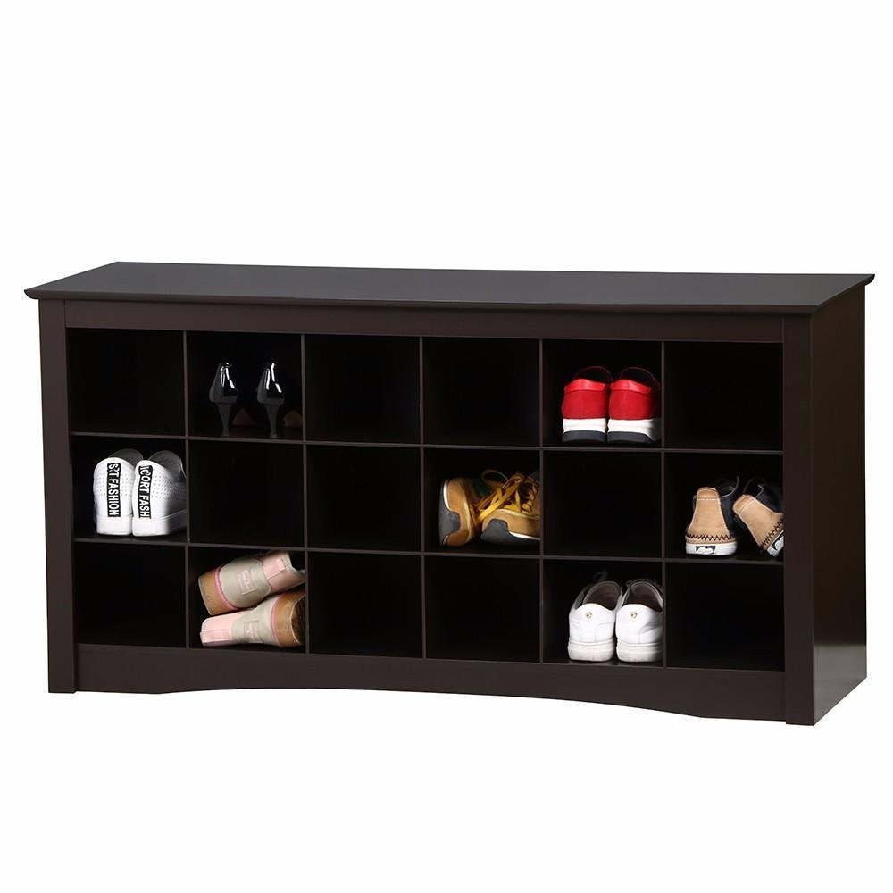 Amazon.com: Yaheetech Espresso Shoe Storage Cubbie Bench: Kitchen & Dining