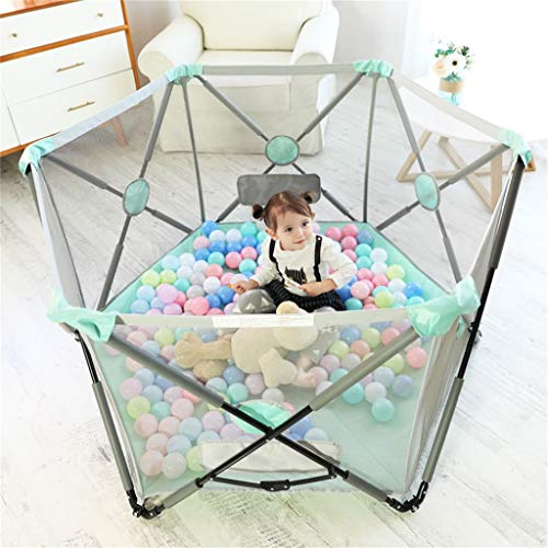 Playpen Tent Baby Safety Gate Portable & Travel Kids Ball Pit Playpen Ball Pool,Indoor and Outdoor Easy Folding Play House Play Space for Children Baby (Excluding The Ball) by CGF- Baby Playpen (Image #5)