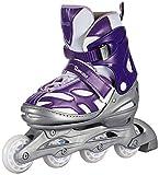 Chicago Blazer Junior Girls Adjustable Inline Skates - Purple - Sizes 5-8