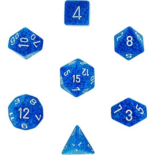 Chessex Polyhedral 7-Die Dice Set - Speckled Water