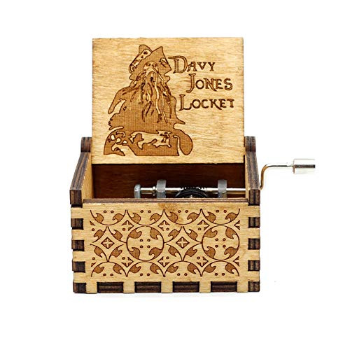 VDV Music Box - 2018 New Black Star Wars Music Box Game of Thrones Castle in The Sky Hand cranked Wood Music Box