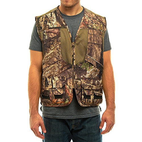 TrailCrest Mossy Oak Deluxe Front Loader Shooting Vest, 3X, Breakup Country