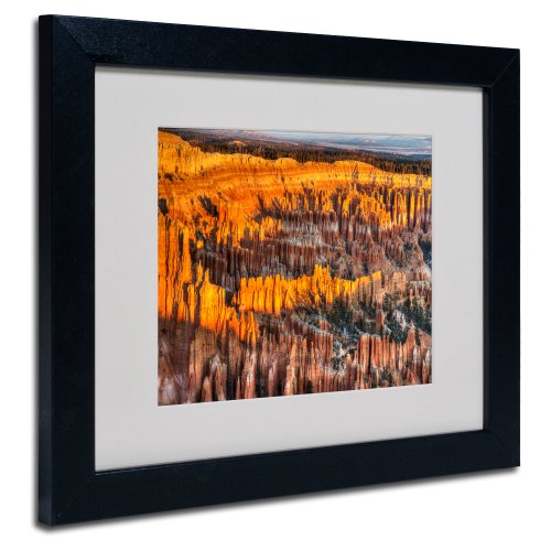 Bryce Canyon Sunrise by Pierre Leclerc Canvas Wall Artwork, Black Frame, 11 by 14-Inch
