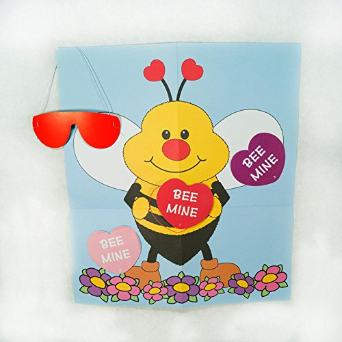 Pin the Heart on the Bee Valentine Bee Game