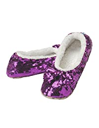 Snoozies Brilliance Bling Sequin Metallic Shine Slippers - New 2016 Colors