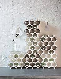 koziol SET-UP Bottle Rack, black