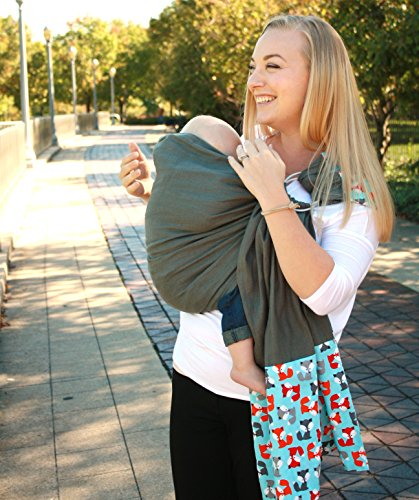 Snuggy Baby Linen Banded Ring Sling Baby Carrier - Foxy