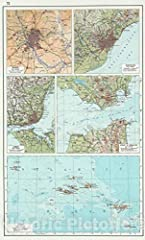 World Atlas | 1967 72. Madrid, Barselona (Barcelona), Lisbon, Strait of Gibraltar, Azores. The World Atlas.        We print high quality reproductions of historical maps, photographs, prints, etc. Because of their historical nature, so...