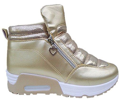 fashionfolie - Zapatillas de Deporte de Material Sintético Mujer