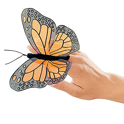 Folkmanis Mini Monarch Butterfly Finger Puppet from Folkmanis