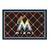 FANMATS MLB Miami Marlins Nylon Face 5X8 Plush Rug