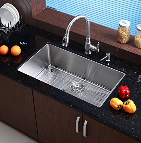 "KRAUS KBG-100-32 Stainless Steel Bottom Grid for KHU100-32 Single Bowl 32"" Kitchen Sink, 29 9/16"" x 16 9/16"" x 1 3/8"" by Kraus (Image #3)"