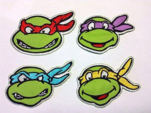 Amazon.com: Conjunto de 4 Ninja Turtle Hierro Sobre coser en ...