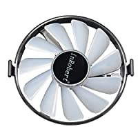 inRobert Hard Swap Fans GPU VGA LED Cooler Cooling Fan FDC10H12S9-C For XFX RX 570 580 460 470 480 Graphic Card (Red LED)