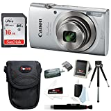 Canon PowerShot ELPH 180 20 MP Digital Camera (Silver) w/ 16GB Accessory Bundle For Sale