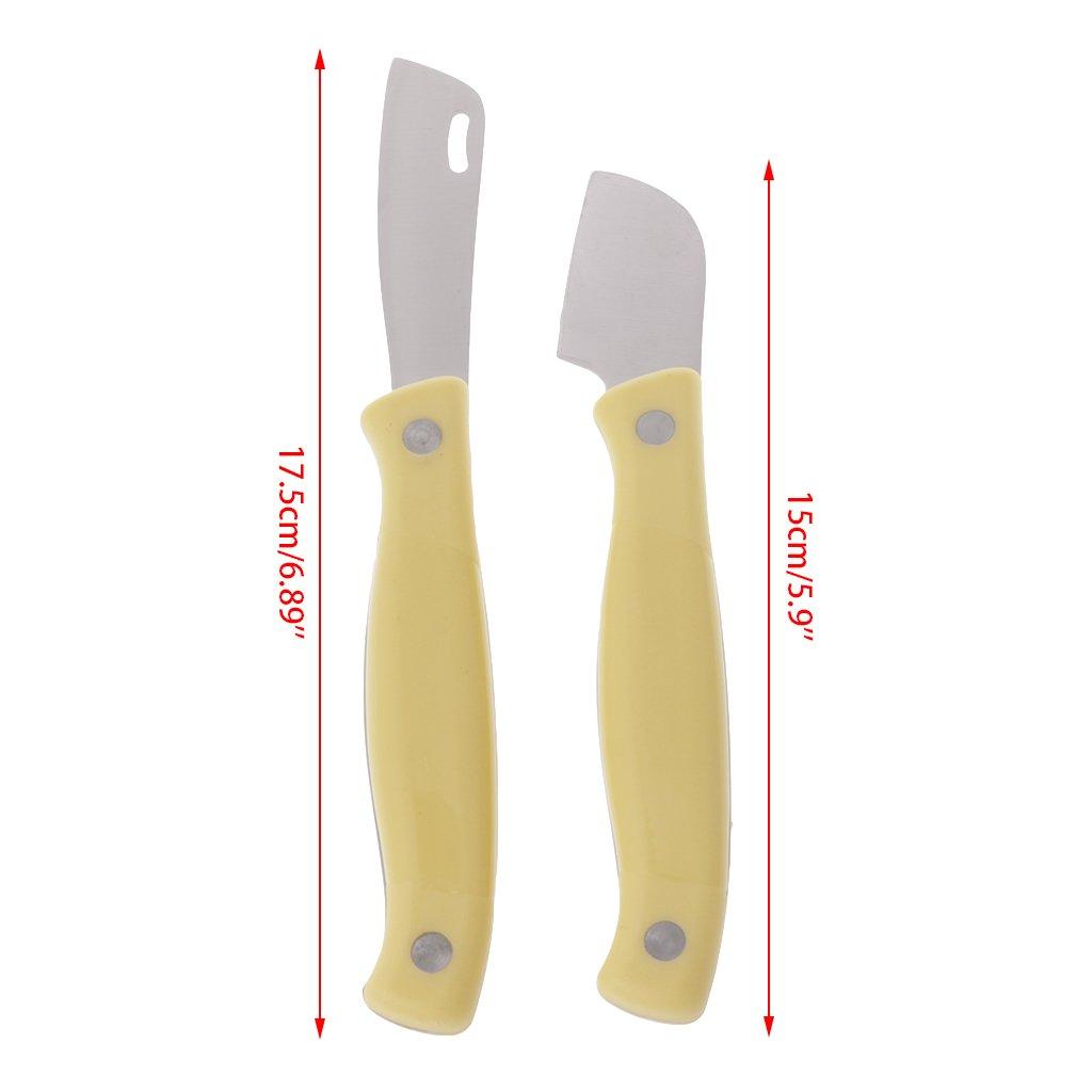 Lunji 2 pieza Jardín - Juego de cuchillos, acero de carbono kopulier Cuchillo para jardín: Amazon.es: Jardín