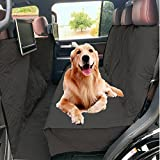 Formosa Covers FC Deluxe | Quilted and Padded Dog Car Back Seat Cover with Comfort Fabric and Non-Slip Back Best for Car Truck and SUV - Travel With Your Pet Mess Free - Universal Fit 56