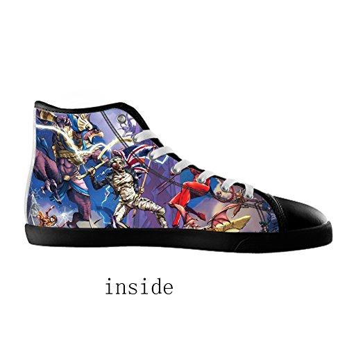 Hommes Black1 Pour Les Groupe Chaussures De Toile En Haut hommes Rock Style Kjlj q7wIUa