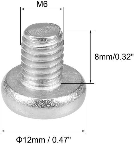 uxcell M6x8mm Machine Screws Pan Phillips Cross Head Screw 304 Stainless Steel Fasteners Bolts 30Pcs