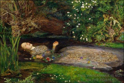 Millais Painting Ophelia - Ophelia, by Sir John Everett Millais - 24