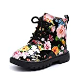 Bestop for 0-3 Years Old Fashion Infant Baby Girls Boys Non-Slip Waterproof Sneaker Warm Martin Boots Shoes Fashion Boys Girls Martin Sneaker Winter Thick Snow Baby Casual Shoess (9.5, Black 2)