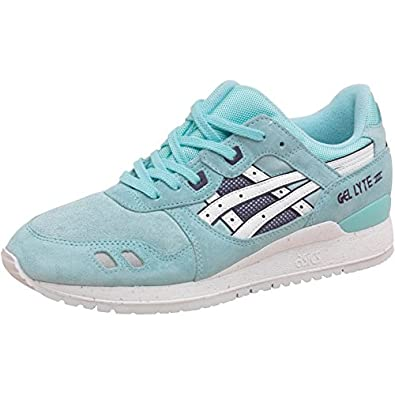 Asics Tiger Womens Gel Lyte III Trainers Snowflake Blue White   Amazon.co.uk  Shoes   Bags ff8f05060b