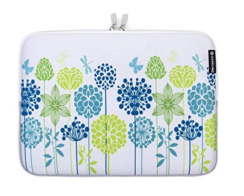 caseling-neoprene-sleeve-for-13-133-inch-laptop-blue-green-flowers