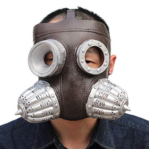 PartyHop - Steam Punk Biohazard Gas Mask Halloween Mask]()