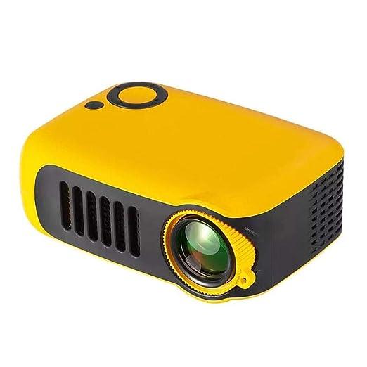 jinclonder Proyector Mini, proyector de Video para la presentación de la Oficina de Cine en casa Proyector LCD portátil A2000 HD 1080P Completo con ...
