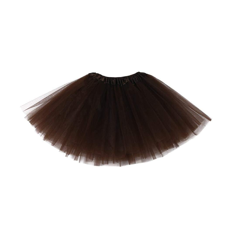 Staron Toddler Kids Ballet Skirt Tutu Layered Dance Party Dress Solid Gauze Skirt Beige❤ ️ )