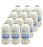 ZeroR Z134 Refrigerant - R134a Replacement - 12 Cans (1 Case) - Made in USA - Natural Non Ozone Depleting