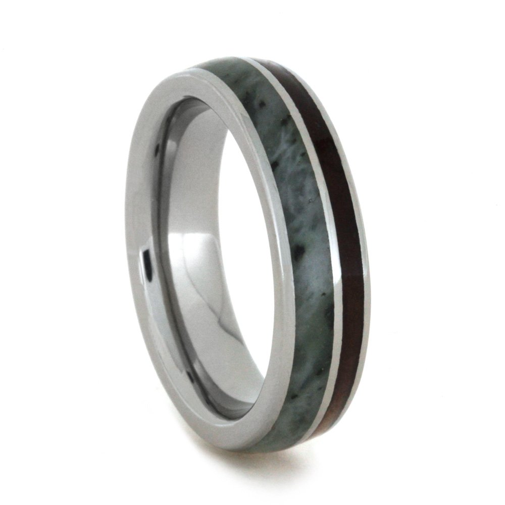 Amazon Nephrite Jade Natural Redwood 5mm Fortfit Titanium Wedding Band Jewelry By Johan For The Men's Store Keepsake Collection: Jade Cross Wedding Bands At Websimilar.org