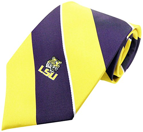 NCAA LSU Tigers Traditional Stripe Necktie, Purple, One Size (Ties Lsu Neck)