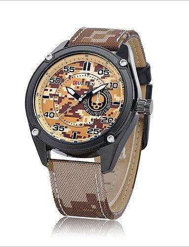 Xin & za Hombres ¡® S cinturón deportes al aire libre camuflaje militar relojes camuflaje hombres cuarzo reloj de las fuerzas especiales moda reloj, ...